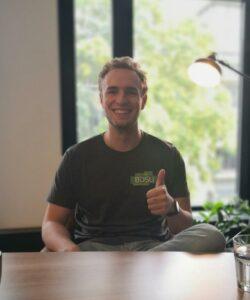 Moritz als motiviertes BDSU-Mitlglied.